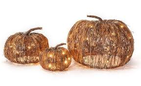 lighted outdoor halloween decorations set of 3 indoor and outdoor decorative lighted pumpkins halloween