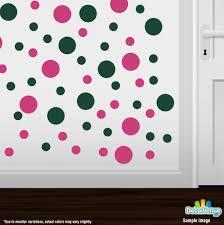 hot pink dark green polka dot circles wall decals wall decals hot pink dark green polka dot circles wall decals
