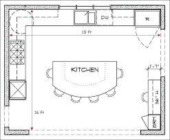 open kitchen floor plans large kitchen floor plans amazing l shaped kitchen island luxury