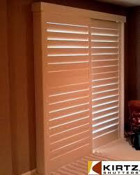 sliding shutters for sliding doors a not so standard installation