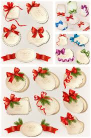 decorative christmas labels with bow vector vector graphics blog