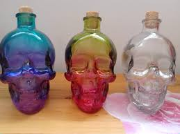 halloween glass halloween skull glass used as drinks container by luwe2009 on