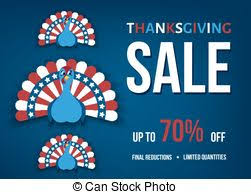 clip vector of thanksgiving day turkey sale banner happy
