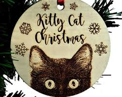 tabby cat ornament etsy