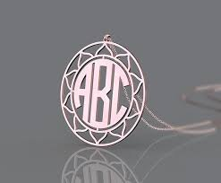 3 initial monogram necklace sterling silver 200 best monogram silver necklace images on monogram
