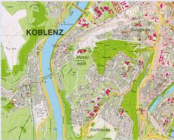 map of germany cities koblenz map