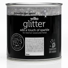 wilko glitter paint silver 250ml at wilko com