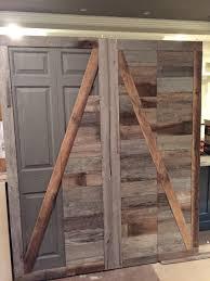 Bifold Barn Door Hardware by Barn Doors Bifold Doors Using Existing Bifold Door Hardware Home