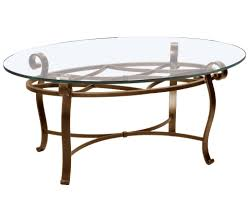 wrought iron coffee table with glass and wooden round metal ova