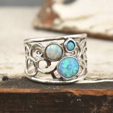 opal stone rings images Sterling silver ring with opal stone shop at inspiranza designs jpg