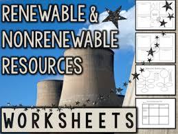 renewable and nonrenewable energy sources worksheets u0026 printables