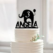 aliexpress com buy happy birthday baby cake topper elephant baby