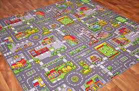 Kid Play Rug Play Rug With Roads Design Idea And Decorations Charming
