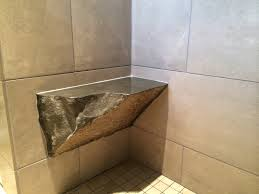 Bath Shower Bench Rock Shower Bench Kitchen Bath Laundry Remodel Vancouver Wa