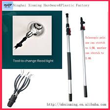 Flood Light Bulb Changer Cleaning Product Aluminum Telescopic Pole And Roof Ceiling Pvc