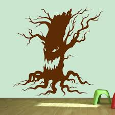 haunted tree scary halloween wall stickers growl seasonal home