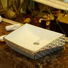 Porcelain Bathroom Vanity Luxurious Silver Porcelain Bathroom Vanity Bathroom Sink Bowl