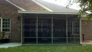 Porch Awnings For Home Aluminum Aluminum Awnings U0026 Under Decking Nc Sc