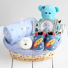 Baby Gift Baskets Deluxe Boy New Baby Gift Basket New Baby Gift Hampers
