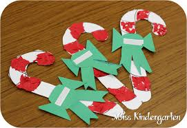 candy cane tear art holiday craft ideas miss kindergarten