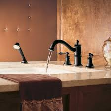 moen ts213wr waterhill two handle high arc roman tub faucet