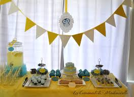 Baby Shower Centerpieces For Boy by Sweet Table For A Boy Baby Shower Theme Yellow Turquoise And