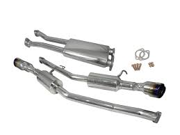 nissan 350z quad tip exhaust injen stainless steel exhaust systems performance air intake