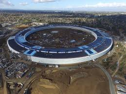 new drone footage shows progress of apple u0027s u0027spaceship u0027 campus