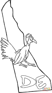delaware map coloring page free printable coloring pages