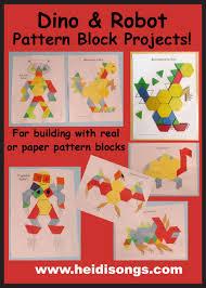 pattern blocks math activities need a hexagon cylinder or trapezoid song pattern blocks robot