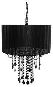 amazon com tadpoles one bulb shaded chandelier black baby