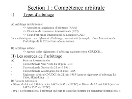 chambre d arbitrage de droit du commerce international ppt télécharger
