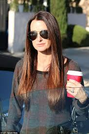 kyle richards needs to cut her hair kyle richards unsure if the pitbull that attacked her daughter