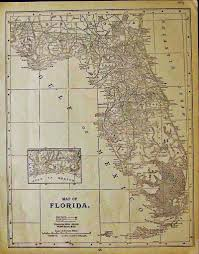 Gulf Coast Of Florida Map by Prints Old U0026 Rare Florida