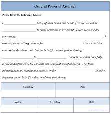 best photos of general power of attorney form template free