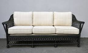 Wicker Sofa Bed by Bar Harbor Black Painted Rattan Sofa Mecox Gardens