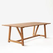 teak trestle dining table trestle teak dining table unison