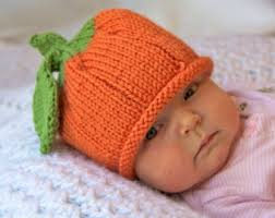 Infant Halloween Costumes Pumpkin Infant Pumpkin Hat Etsy