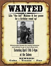 western birthday party invitation templates home party theme ideas