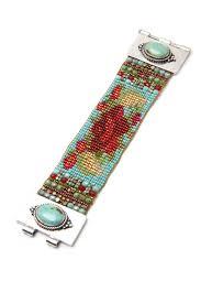 turquoise chili rose bracelet adonnah guest designers