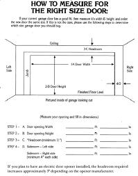 garage door dimensions single car standard garage door dimensions