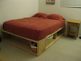 Diy Pallet Bed With Storage by Best 25 Full Size Platform Bed Ideas On Pinterest Bed Frame Diy