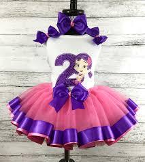 ribbon tutu guppies oona birthday purple hot pink ribbon tutu pc set
