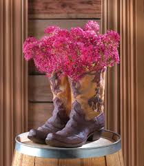Wholesale Western Home Decor Wholesale Western Cowboy Boot Planter Brown Wild West Cowboy