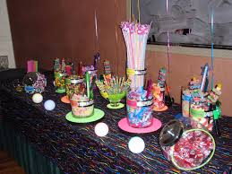 pop up candy bar neon theme candy buffet neon pinterest