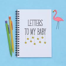 baby shower gift letters to my baby 5 x 7 baby