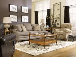 Living Room Recliner Chairs Furniture Cozy Living Room Idea With Gray Sofa And Rustic Also