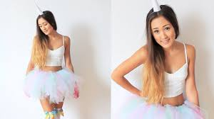 Quick Halloween Costumes For Teens Diy Unicorn Halloween Costume U0026 Tutu Tutorial Laurdiy Youtube