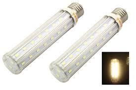 bonlux socket e26 base t10 led tubular light bulb 15w warm