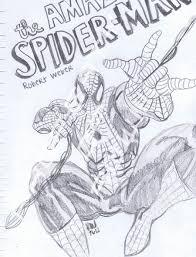 amazing spiderman sketch acciowebs deviantart